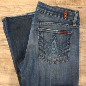"7 for all mankind jeans studded ""A"" pocket"